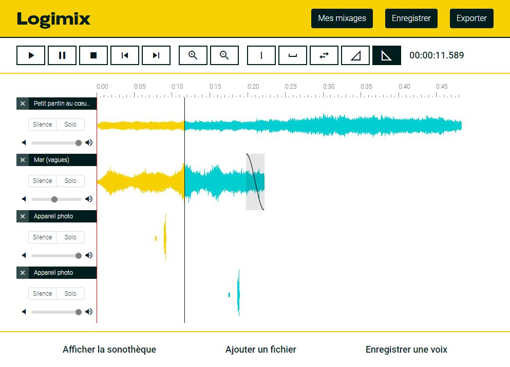 Logimix, pour créer des mixages audio simples